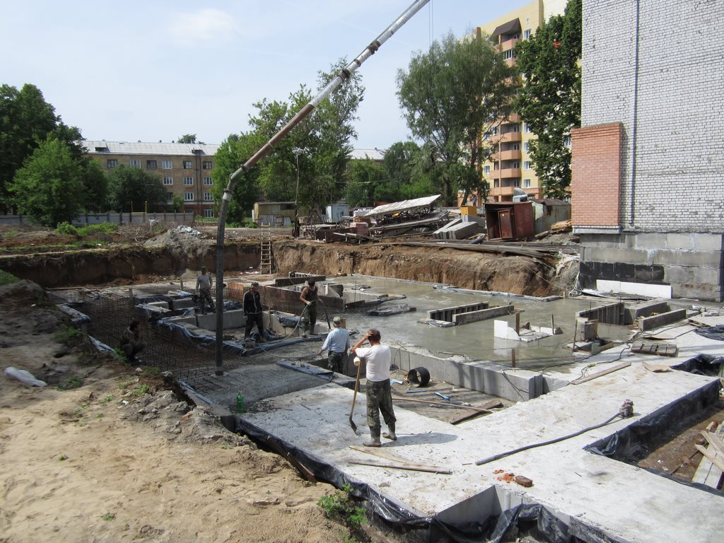 Заливка бетона для Мос 3 Дзержинского