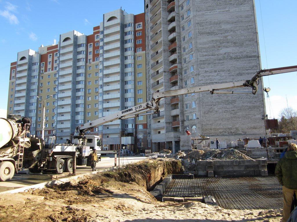 Заливка бетона для Мос 3 ул. Пионерская