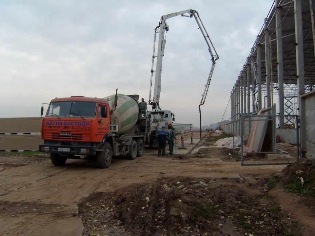 Заливка бетона для Мособлстрой №5 СМУ2