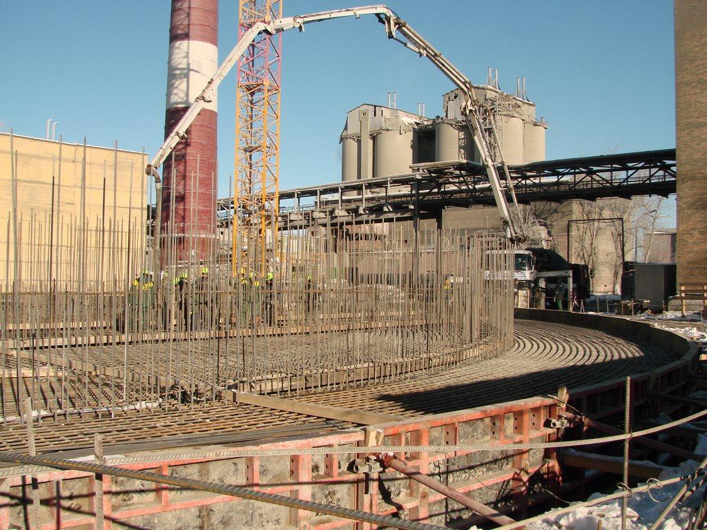 Заливка бетона для ЦемЗавода Holcim