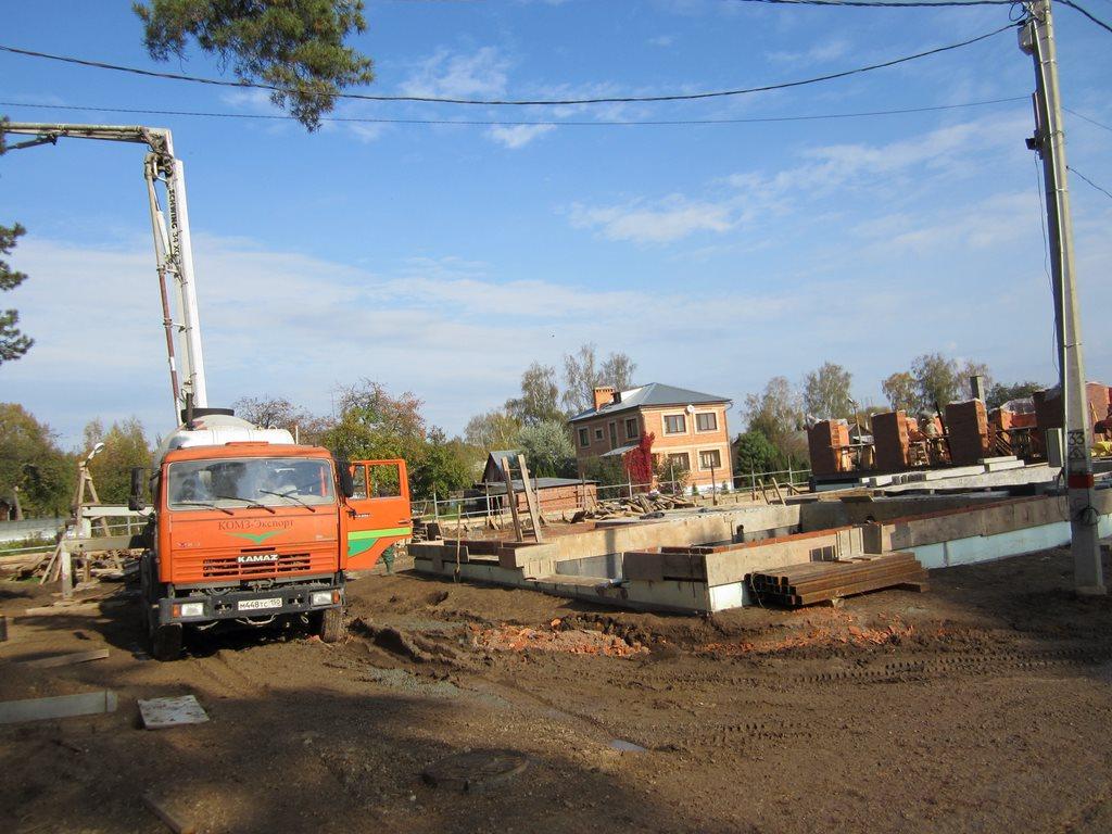 Заливка бетона для ЧЛ Метлихина